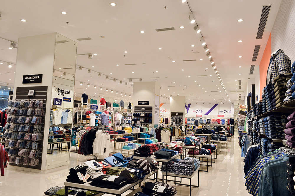 نورپردازی فروشگاه ها