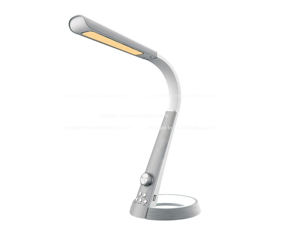 چراغ مطالعه مهندسی دیمردار مدل 1063 سیلورلایت نقره ای
