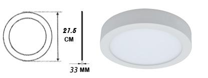پنل LED روکار سرامیکی گرد ۱۸ وات