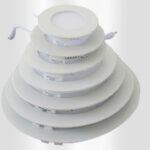 پنل LED توکار سرامیکی گرد ۳ وات سیلورلایت