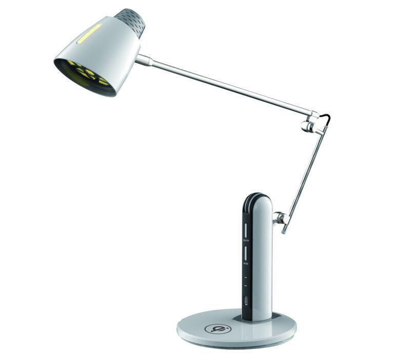چراغ مطالعه ی led اداری مدل ۱۱۶۸ همراه با شارژر وایرلس