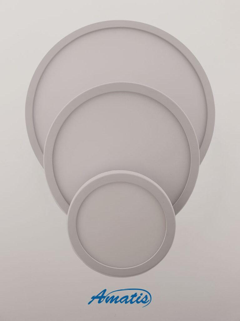 چراغ led قابل تنظیم کشویی گرد ۱۵ وات مهتابی
