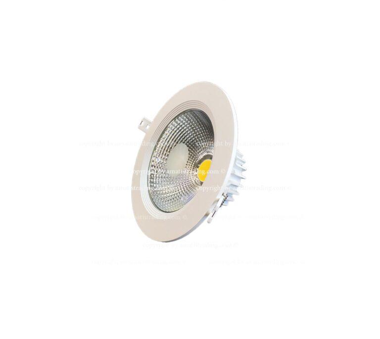 چراغ سقفی cob بدنه استیل توکار ۴m از ۱۰ تا ۴۰ وات مناسب منزل و شرکت ها