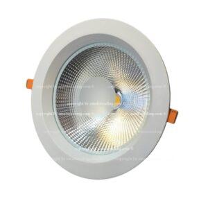 چراغ سقفی cob توکار ۴m کوارتز بدنه سفید از ۵ تا ۳۰ وات مناسب سقف ۳ تا ۵ متر