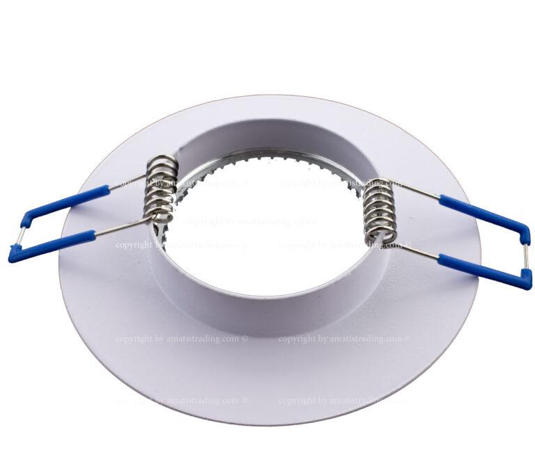 قاب هالوژن آلومینیومی سفید ساده آماتیس