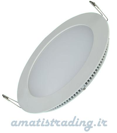 چراغ LED توکار سقفی گرد ۶ وات سیلورلایت