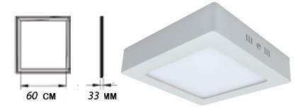 پنل LED روکار ۶۰ در ۶۰ توان ۶۰ وات