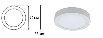 پنل LED روکار سرامیکی گرد ۶ وات