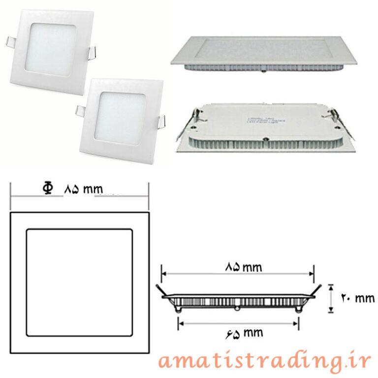 پنل LED توکار سرامیکی مربع ۳ وات