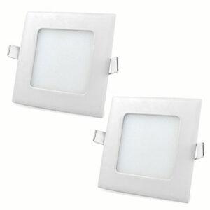 چراغ LED توکار سقفی مربع ۶ وات