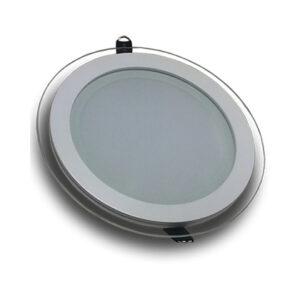 پنل LED توکار دورشیشه گرد ۱۲ وات