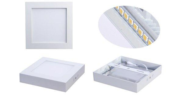 چراغ LED روکار سقفی مربع ۱۲ وات